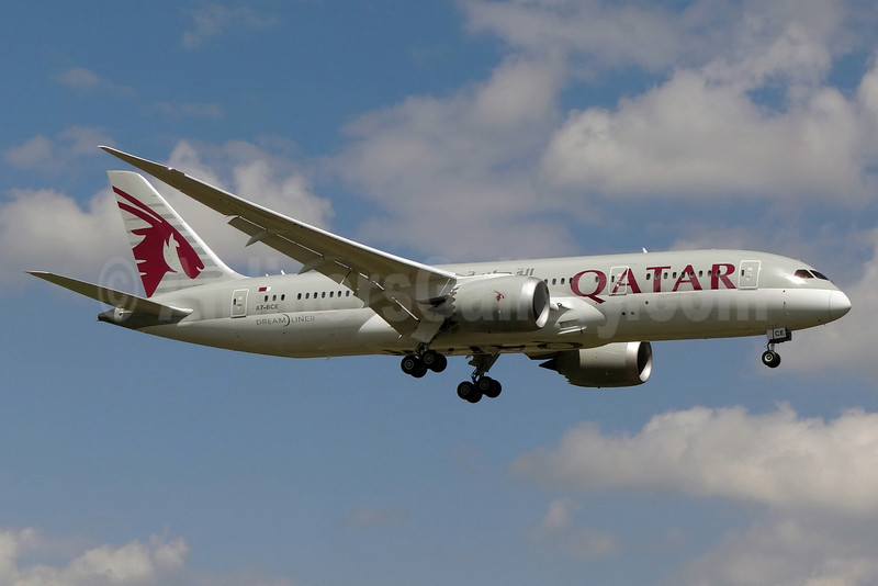 Qatar Airways Boeing 787-8 Dreamliner A7-BCE (msn 38323) ZRH (Paul Bannwarth). Image: 921185.