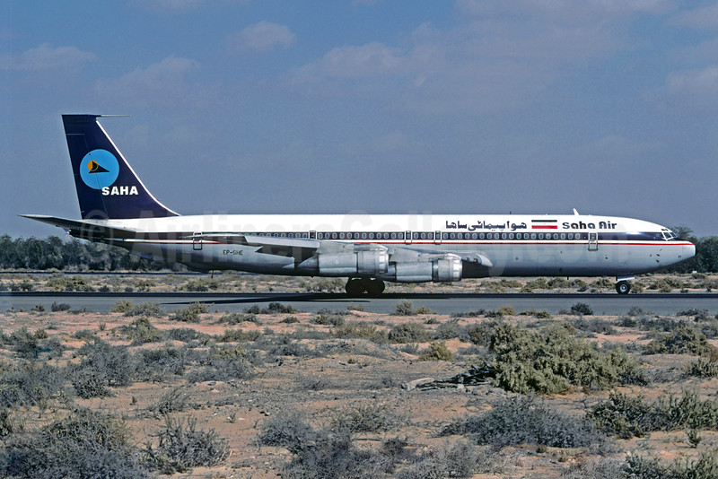 Saha Air Boeing 707-3J9C EP-SHE (msn 21127) SHJ (Christian Volpati Collection). Image: 921225.