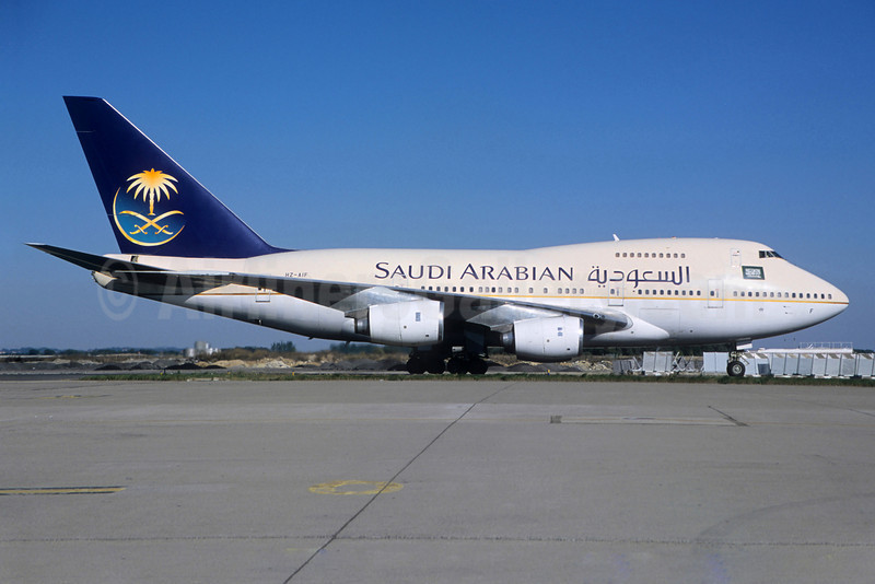 Saudi Arabian Airlines Boeing 747SP-68 HZ-AIF (msn 22503) CDG (Christian Volpati Collection). Image: 922368.