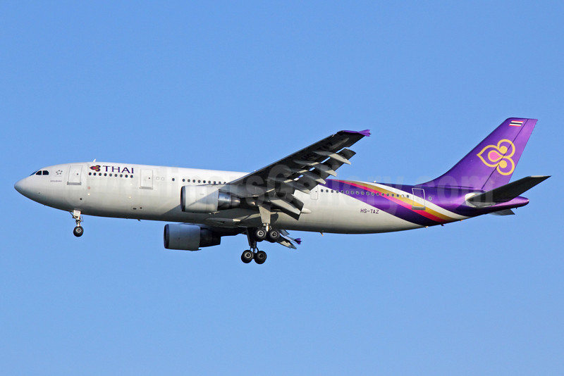 Thai Airways International Airbus A300B4-622R HS-TAZ (msn 787) BKK (Michael B. Ing). Image: 922263.