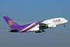 Thai Airways International Airbus A380-841 HS-TUC (msn 100) BKK (Michael B. Ing). Image: 923693.
