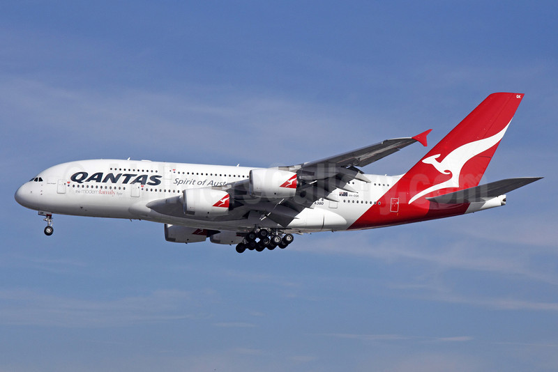 QANTAS Airways Airbus A380-842 VH-OQK (msn 063) (The Modern Family Flyer) LAX (Michael B. Ing). Image: 922208.