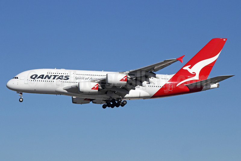 QANTAS Airways Airbus A380-842 VH-OQB (msn 015) LAX (Michael B. Ing). Image: 910695.