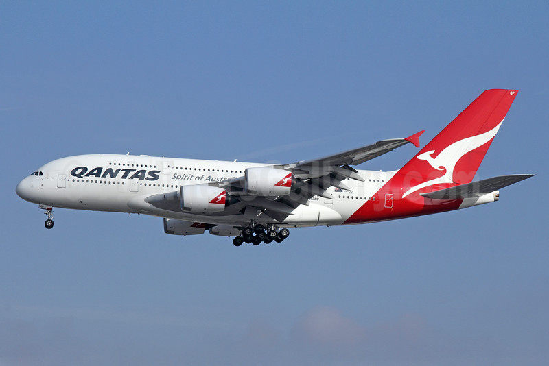 QANTAS Airways Airbus A380-842 VH-OQF (msn 029) LAX (Michael B. Ing). Image: 923290.