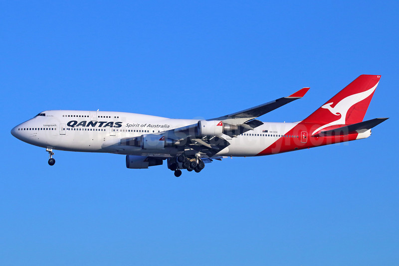 QANTAS Airways Boeing 747-438 ER VH-OEH (msn 32912) LAX (Michael B. Ing). Image: 922207.