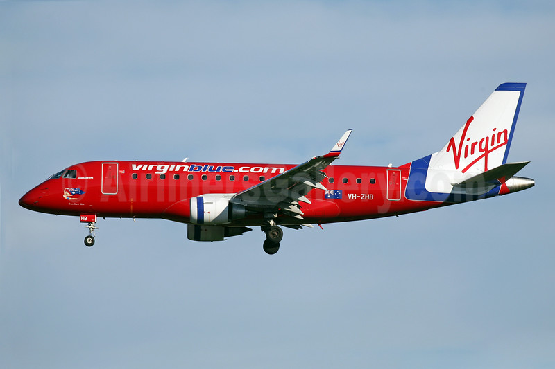 Virgin Blue Airlines (virginblue.com.au) Embraer ERJ 170-100LR VH-ZHB (msn 17000187) SYD (John Adlard). Image: 906337.