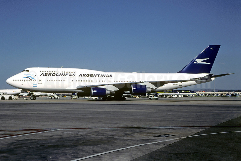 Aerolineas Argentinas Boeing 747-475 LV-BBU (msn 24883) MAD (Jacques Guillem Collection). Image: 920027.