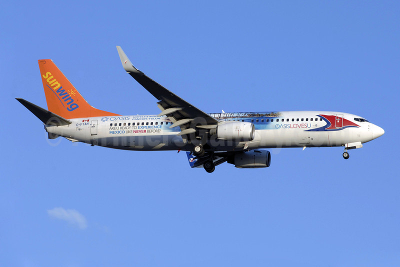 Sunwing Airlines (flysunwing.com) Boeing 737-8Q8 C-FTAH (msn 29351) (Travel Service Airlines colors - Oasis Hotels and Resorts - Oasis Loves U) YYZ (TMK Photography). Image: 922637.