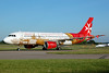 The Air Malta promotional logo jet for Valletta, Malta