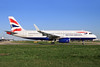 The first British Airways Airbus A320 with Sharklets