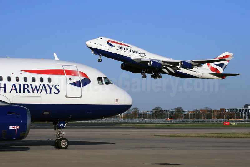 Rush Hour for British Airways at London Heathrow Airport