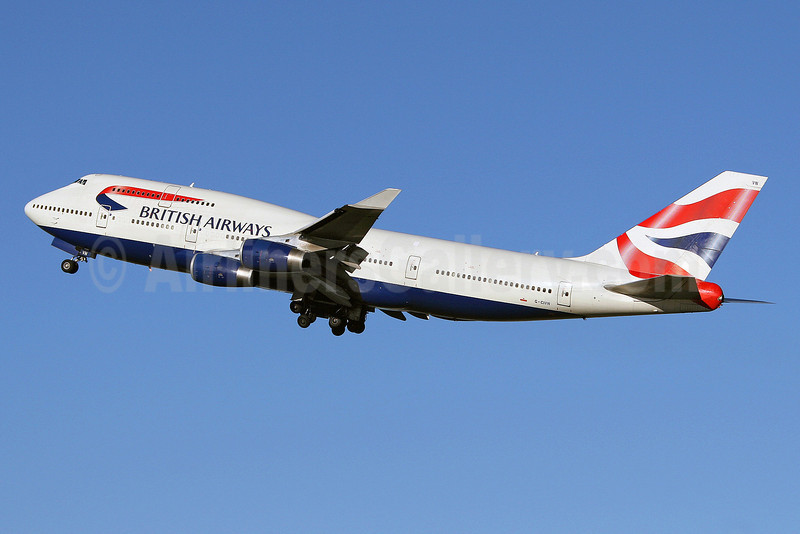British Airways Boeing 747-436 G-CIVN (msn 28848) LHR (Keith Burton). Image: 901398.