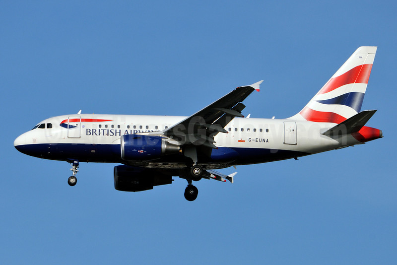 British Airways Airbus A318-112 G-EUNA (msn 4007) JFK (Ken Petersen). Image: 921438.