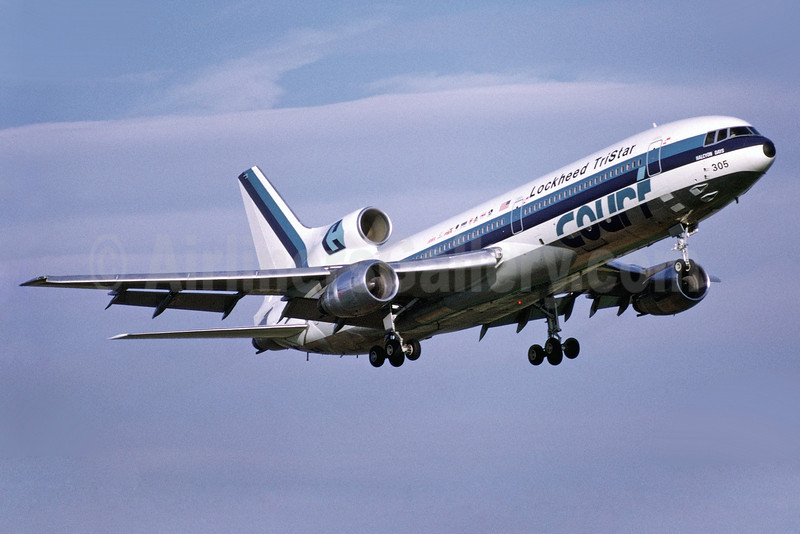 "Court Line Aviation (Eastern Airlines) Lockheed L-1011-385-1 TriStar 1 N305EA (msn 1006) (Eastern colors) ""Halcyon Days"" MAN (Richard Vandervord). Image: 902518."