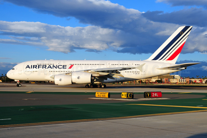 Air France Airbus A380-861 F-HPJH (msn 099) LAX (Ton Jochems). Image: 910861.