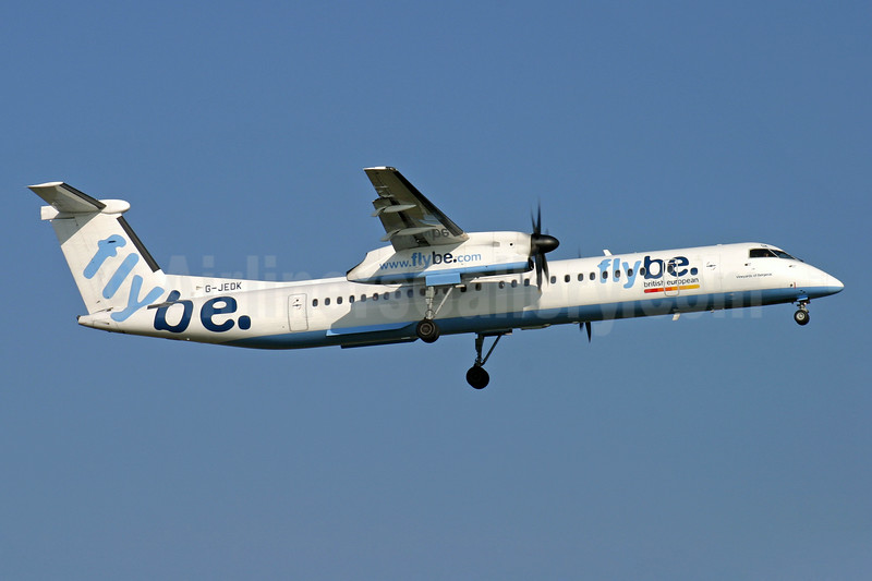 Flybe-British European (2nd) Bombardier DHC-8-402 (Q400) G-JEDK (msn 4065) LGW (Antony J. Best). Image: 902103.