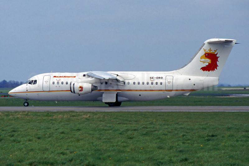 Malmö Aviation BAe 146-200 SE-DRD (msn E2094) DUB (SM Fitzwilliams Collection). Image: 922225.