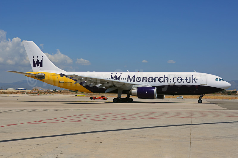 Monarch Airlines (Monarch.co.uk) Airbus A300B4-605R G-OJMR (msn 605) PMI (Ton Jochems). Image: 912768.