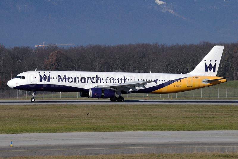 Monarch Airlines (Monarch.co.uk) Airbus A321-231 G-OZBL (msn 864) GVA (Paul Denton). Image: 912196.