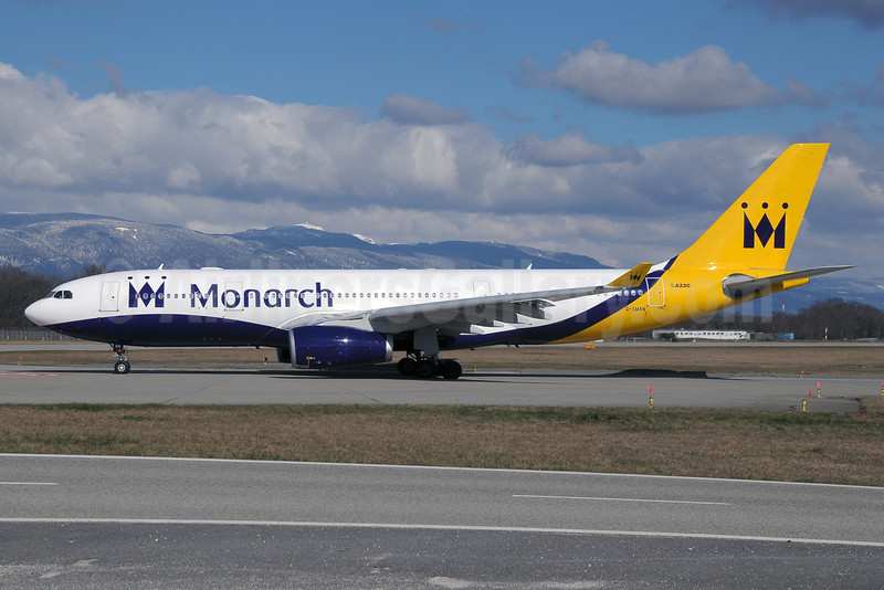 Monarch Airlines Airbus A330-243 G-SMAN (msn 261) GVA (Paul Denton). Image: 922426.