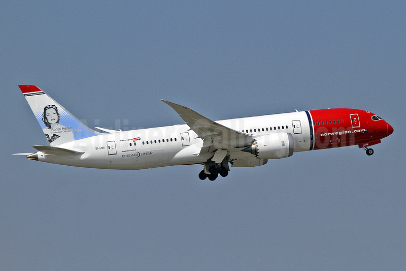 Norwegian Air Shuttle (Norwegian.com) (Norwegian Long Haul) Boeing 787-8 Dreamliner EI-LNA (msn 35304) (Sonja Henie) BKK (Keith Burton). Image: 921954.
