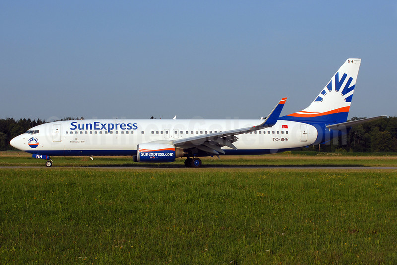 SunExpress Airlines Boeing 737-8FH WL TC-SNH (msn 30826) ZRH (Rolf Wallner). Image: 912967.