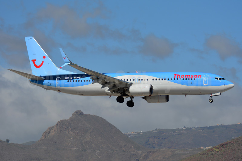 Thomson Airways Boeing 737-8K5 SSWL G-TAWS (msn 37241) TFS (Paul Bannwarth). Image: 927001.