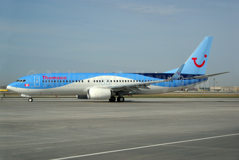 Thomson Airways (Sunwing Airlines) Boeing 737-8K5 WL C-FLZR (msn 35145) YYZ (TMK Photography). Image: 923270.