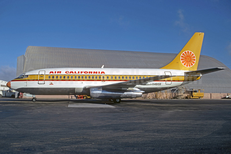 Air California Boeing 737-293 N461GB (msn 19306) SFO (Jacques Guillem Collection). Image: 921714.