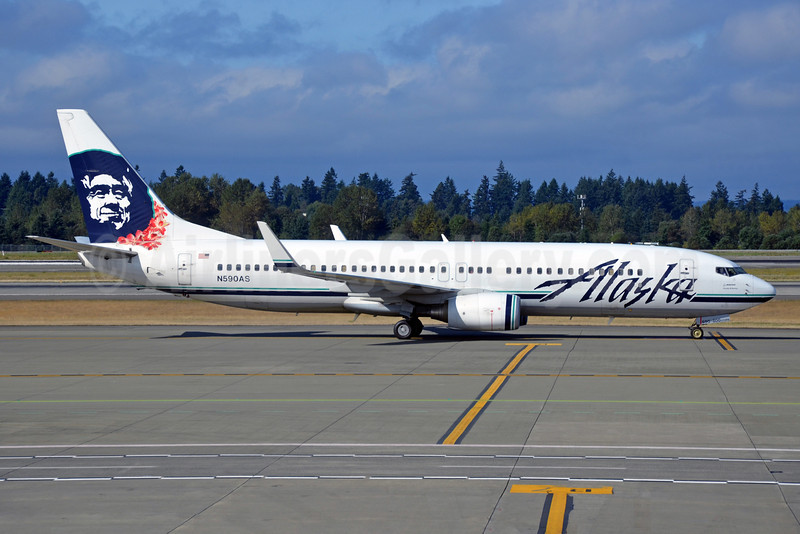 Alaska Airlines Boeing 737-890 WL N590AS (msn 35687) (Lei) SEA (Bruce Drum). Image: 103291.