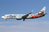 "Alaska Airlines' special ""Disney Cars"" promotional movie logo jet"