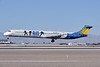 Allegiant Air McDonnell Douglas DC-9-82 (MD-82) N408NV (msn 53246) (Blue Man Group) LAS (Tony Storck). Image: 913841.