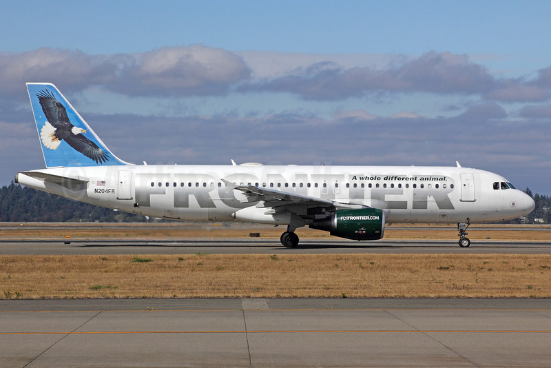 Frontier Airlines (2nd) Airbus A320-214 N204FR (msn 2325) (Bald Eagle) SEA (Michael B. Ing). Image: 921744.