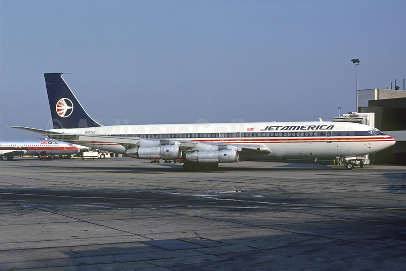 Jet America Airlines Boeing 707-327C N707AD (msn 19529) ORD (Christian Volpati Collection). Image: 921726.