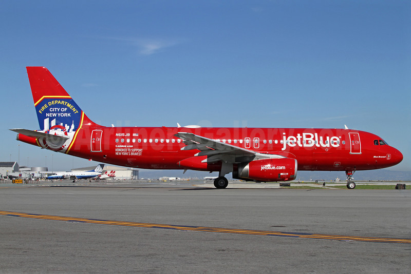 JetBlue Airways Airbus A320-232 N615JB (msn 2461) (FDNY - Fire Department New York) SFO (Mark Durbin). Image: 922237.