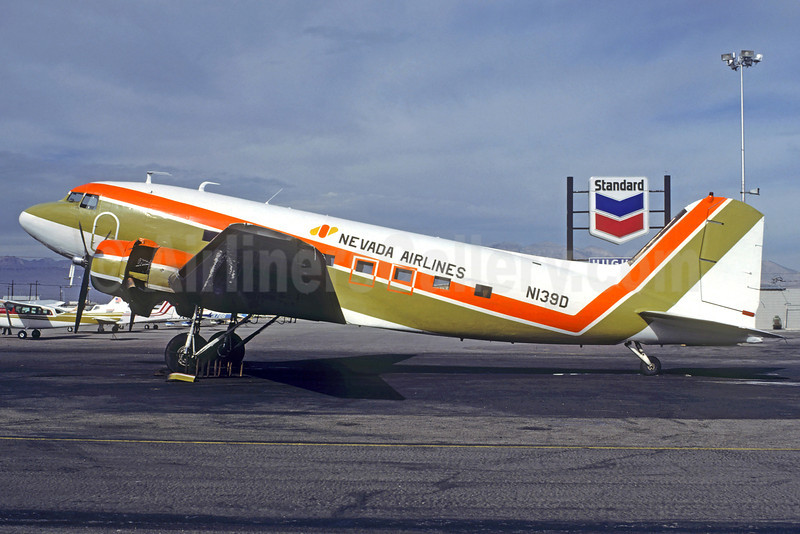 Nevada Airlines Douglas DST-217A (DC-3) N139D (msn 2165) LAS (Christian Volpati Collection). Image: 922395.