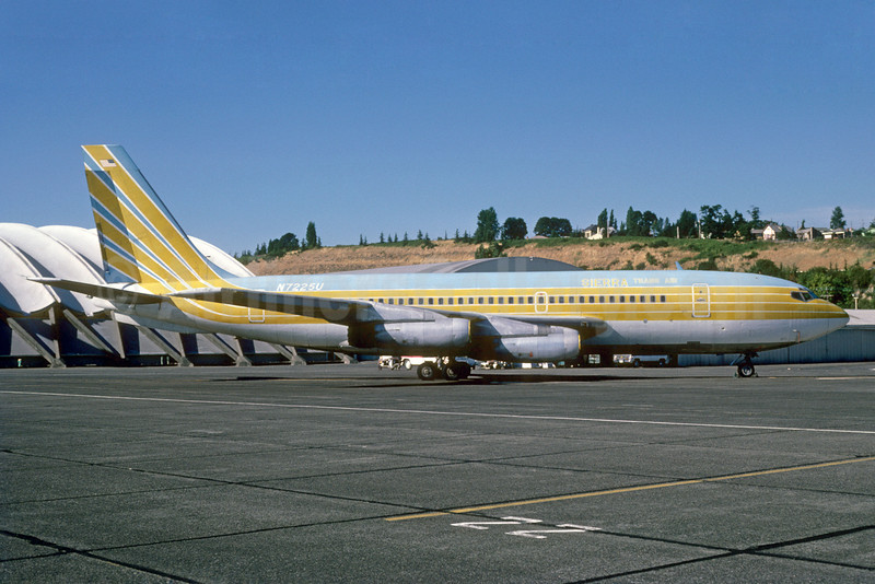 Sierra Trans Air Boeing 720-022 N7225U (msn 18078) (Jet Set Travel Club colors) BFI (Bruce Drum). Image: 103281.