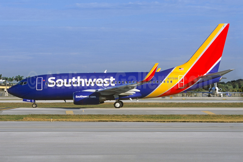 Southwest Airlines Boeing 737-76N WL N7733B (msn 32678) FLL (Jacques Guillem Collection). Image: 927641.