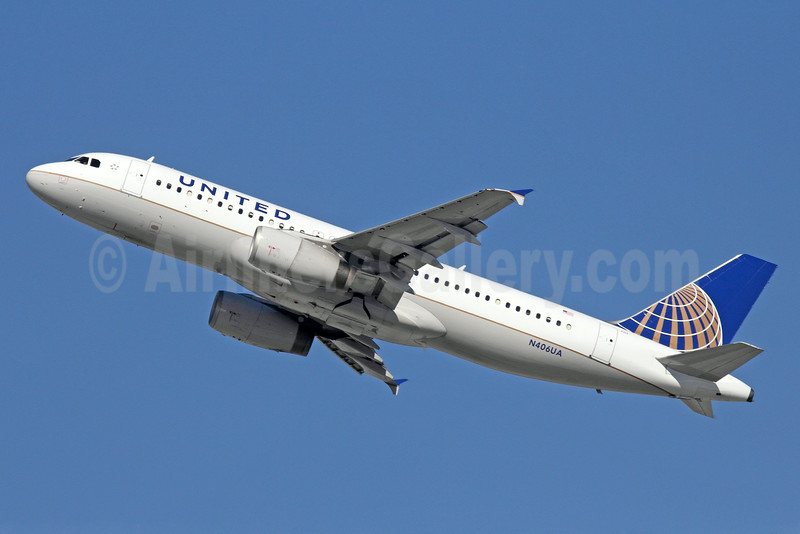 United Airlines Airbus A320-232 N406UA (man 454) LAX (Michael B. Ing). Image: 911683.