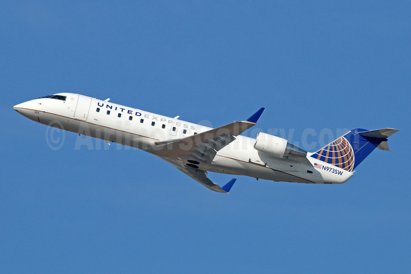 United Express-SkyWest Airlines Bombardier CRJ200 (CL-600-2B19) N973SW (msn 7949) LAX (Michael B. Ing). Image: 922371.