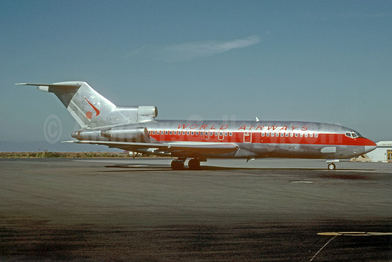 World Airways Boeing 727-23 N1979 (msn 18435) OAK (Bruce Drum). Image: 103479.