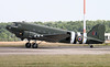 BBMF C-47 Dakota, ZA947 taxis towards stand 16.<br /> By Jim Calow.