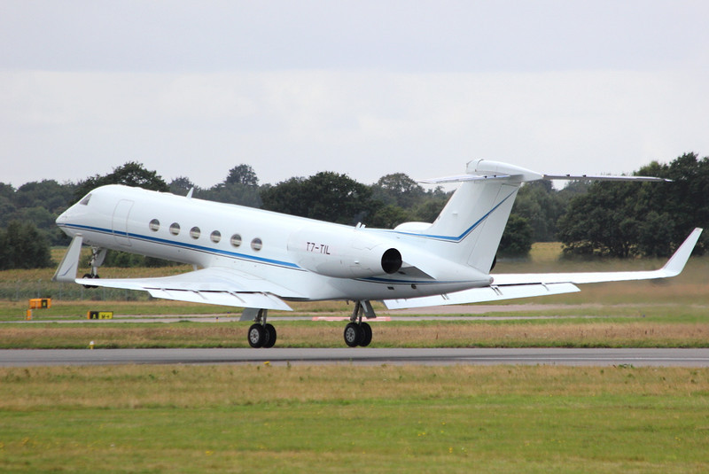Gulfstream V, T7-TIL departs within 2 hours By Clive Featherstone.
