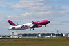 After going tech earlier, Wizz Air A320 HA-LYA finally got away just before 13:00.<br /> By Clive Featherstone.