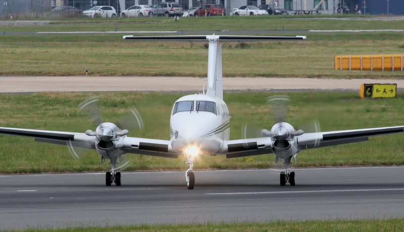 BroadSword Aviation, Beech 200 Super King Air, G-IASM.<br /> By Jim Calow.