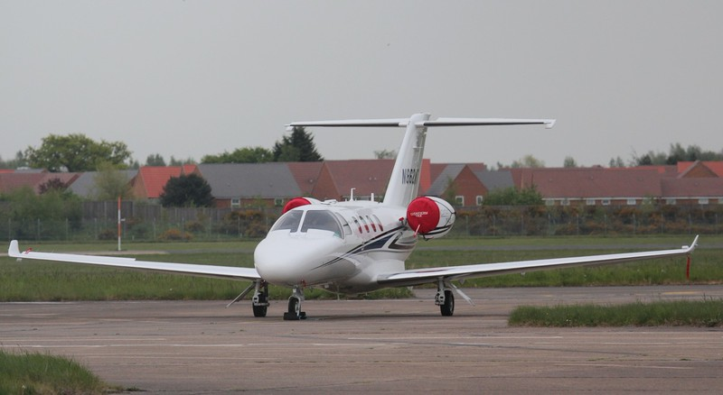 Parked on stand 15 is Cessna 525 Citation M2 N862MT which arrived late yesterday afternoon.<br /> ByJim Calow.