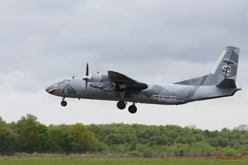 Air Bright Antonov An-26B, LZ-LBR<br /> By Clive Featherstone.