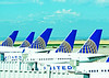 United Airlines tailfeathers