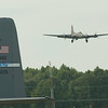 Memphis Belle on Final for Runway 15.  The C-130 from the Kentucky ANG is in the foreground