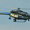 Baltimore Police Chopper along the runway